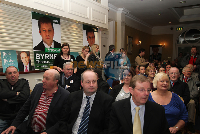 Large turnout for Micheál Martin and Thomas Byrne at the Fianna Fail Rally in The Headfort Arms, Kells...(Photo credit should read Jenny Matthews www.newsfile.ie)....This Picture has been sent you under the conditions enclosed by:.Newsfile Ltd..The Studio,.Millmount Abbey,.Drogheda,.Co Meath..Ireland..Tel: +353(0)41-9871240.Fax: +353(0)41-9871260.GSM: +353(0)86-2500958.email: pictures@newsfile.ie.www.newsfile.ie.
