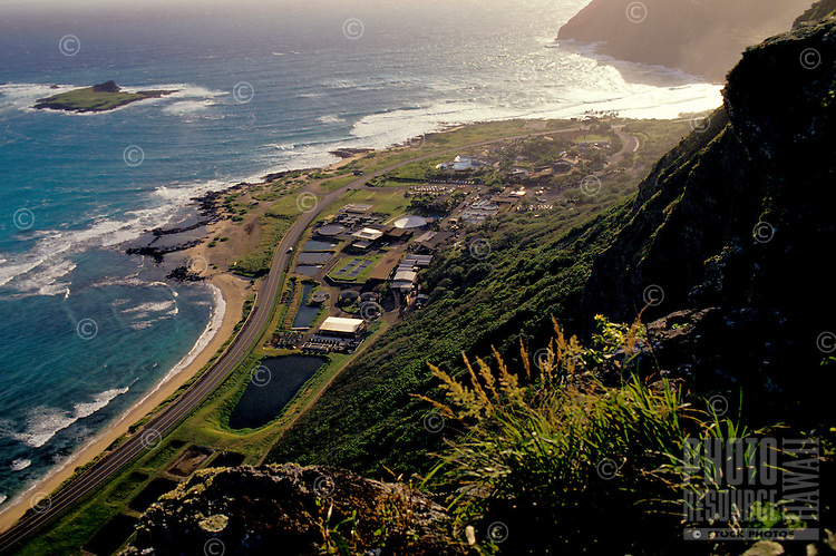 Oceanic Institute seen from Waimanalo cliffs