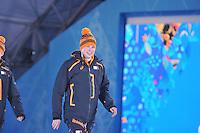 OLYMPICS: SOCHI: Medal Plaza, 09-02-2014, medaille uitreiking, 5000m Men, Sven Kramer (NED), ©foto Martin de Jong