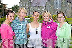 Marian O'Leary, Caragh Moloney, Madeline Healy, Christine Hegarty and Denise McSweeney keeping fit at the Michelle O'Connor memorial walk in aid of Cystic Fibrosis in Killarney on Sunday.