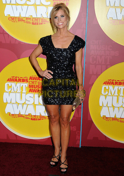 Cheryl Hines.2011 CMT Music Awards held at Bridgestone Arena, Nashville, Tennessee, USA..June 8th, 2011.full length black sparkly clutch bag dress hand on hip  .CAP/ADM/LF.©Laura Farr/AdMedia/Capital Pictures.