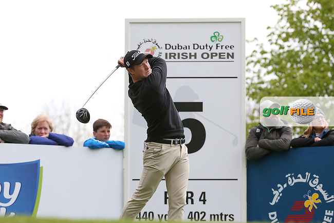 Bjorn Akesson (SWE) drives from the 5th  during Round One of the 2016 Dubai Duty Free Irish Open Hosted by The Rory Foundation which is played at the K Club Golf Resort, Straffan, Co. Kildare, Ireland. 19/05/2016. Picture Golffile | David Lloyd.<br /> <br /> All photo usage must display a mandatory copyright credit as: &copy; Golffile | David Lloyd.