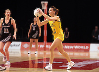 23.09.2012 Australian Natalie Medhurst in action during the third netball test match between the Silver Ferns and the Australian Diamonds at CBS Canterbury Arena in Christchurch. Mandatory Photo Credit ©Michael Bradley.