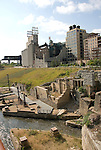 Minnesota, Twin Cities, Minneapolis-Saint Paul: Mill City Museum, showing flour milling history in Minneapolis.  And Mill Ruins Park, showing where the mills were..Photo mnqual267-75158..Photo copyright Lee Foster, www.fostertravel.com, 510-549-2202, lee@fostertravel.com.