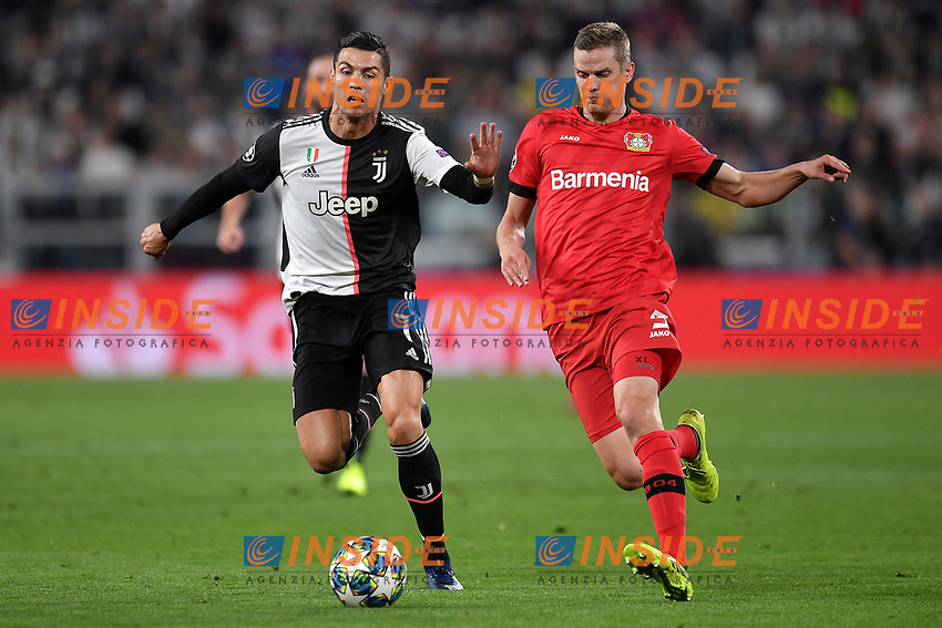 Cristiano Ronaldo of Juventus , Sven Benderof Leverkusen <br /> Torino 01/10/2019 Juventus Stadium <br /> Football Champions League 2019//2020 <br /> Group Stage Group D <br /> Juventus - Leverkusen <br /> Photo Andrea Staccioli / Insidefoto