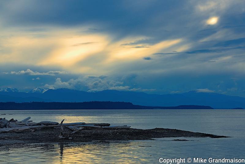 Coast Mountains<br /> <br /> Hornby Island<br /> British Columbia<br /> Canada