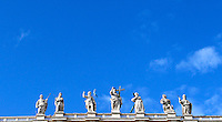 Veduta delle statue di Piazza San Pietro, durante un'udienza giubilare di Papa Francesco, Citta' del Vaticano, 12 novembre 2016.<br /> A picture of Saint Peters Basilica statues during the Pope Francis' Jubilee Audience at the Vatican, November 12, 2016.<br /> UPDATE IMAGES PRESS/Isabella Bonotto<br /> <br /> STRICTLY ONLY FOR EDITORIAL USE