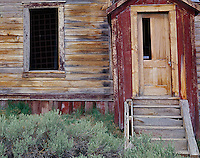 Bodie State Historic Park, CA:  Front door and window of the Fouke House
