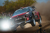 5th October 2017, Costa Daurada, Salou, Spain; FIA World Rally Championship, RallyRACC Catalunya, Spanish Rally; Stephane LEFEBVRE - Gabin MOEAU Citroen Total Abu Dhabi WRT jumps during the shakedown