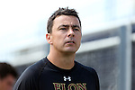28 August 2016: Elon head coach Chris Little (ENG). The Elon University Phoenix played the University of San Diego Toreros at Koskinen Stadium in Durham, North Carolina in a 2016 NCAA Division I Men's Soccer match. USD won the game 2-1.