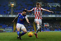 Ipswich Town's Gwion Edwards battles with Stoke City's Sam Clucas<br /> <br /> Photographer Hannah Fountain/CameraSport<br /> <br /> The EFL Sky Bet Championship - Ipswich Town v Stoke City - Saturday 16th February 2019 - Portman Road - Ipswich<br /> <br /> World Copyright © 2019 CameraSport. All rights reserved. 43 Linden Ave. Countesthorpe. Leicester. England. LE8 5PG - Tel: +44 (0) 116 277 4147 - admin@camerasport.com - www.camerasport.com