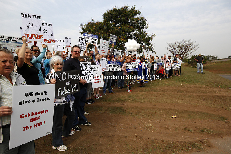 Protest at Fields Hill Accident Scene | Allied Picture Press