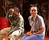 Liberian Girl <br /> at the Royal Court Theatre, London, Great Britain <br /> press photocall<br /> 9th January 2015 <br /> <br /> Juma Sharkah as Martha / Frisky <br /> <br /> Weruche Opia as Finda<br /> <br /> <br /> <br /> <br /> <br /> Photograph by Elliott Franks <br /> Image licensed to Elliott Franks Photography Services
