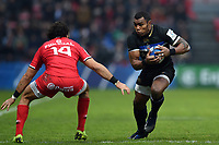 Semesa Rokoduguni of Bath Rugby in possession. Heineken Champions Cup match, between Stade Toulousain and Bath Rugby on January 20, 2019 at the Stade Ernest Wallon in Toulouse, France. Photo by: Patrick Khachfe / Onside Images
