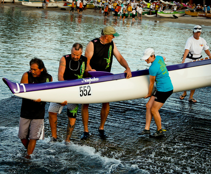 International canoe competition covering many divisions of canoe racing at Kailua Kona on the Big Island of Hawaii