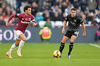 Felipe Anderson Of West Ham United and Ashley Westwood of Burnley during West Ham United vs Burnley, Premier League Football at The London Stadium on 3rd November 2018