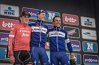 Podium: <br /> <br /> 1. Niki Terpstra (NED/Quick Step Floors)<br /> 2. Mads Pedersen (DEN/Trek Segafredo)<br /> 3. Philippe Gilbert (BEL/Quick Step Floors)<br /> <br /> <br /> 102nd Ronde van Vlaanderen 2018<br /> 1day race: Antwerp &rsaquo; Oudenaarde - BEL (265k)