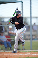 Plymouth State Panthers Josh Goulet (13) at bat during the second game of a doubleheader against the Edgewood Eagles on March 17, 2016 at Lee County Player Development Complex in Fort Myers, Florida.  Plymouth State defeated Edgewood 16-3.  (Mike Janes/Four Seam Images)