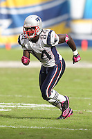 10/24/10 San Diego, CA: New England Patriots wide receiver Deion Branch #84 during an NFL game played at Qualcomm Stadium between the San Diego Chargers and the New England Patriots. The Patriots defeated the Chargers 23-20.