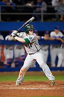 Siena Saints designated hitter Brian Kelly (14) at bat during a game against the Florida Gators on February 16, 2018 at Alfred A. McKethan Stadium in Gainesville, Florida.  Florida defeated Siena 7-1.  (Mike Janes/Four Seam Images)