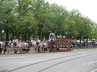 Beer wagon at Oktoberfest - Munich, Germany