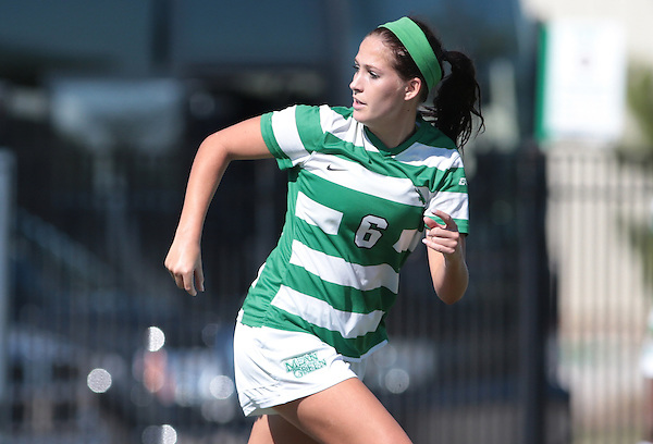 DENTON, TX - OCTOBER 26: North Texas Mean Green Soccer v Old Dominion  at North Texas Soccer Complex in Denton on October 26, 2014 in Denton, Texas. (Photo by Rick Yeatts)