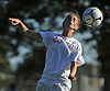 Samantha Muller #23 of North Babylon makes a header during a Suffolk County varsity girls soccer game against Deer Park at North Babylon High School on Wednesday, Oct. 4, 2017. North Babylon won by a score of 2-1.
