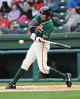 April 19, 2009: Catcher Kyle Skipworth (8) of the Greensboro Grasshoppers, Class A affiliate of the Florida Marlins, in a game against the Greenville Drive at Fluor Field at the West End in Greenville, S.C. Photo by: Tom Priddy/Four Seam Images