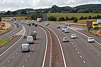 Traffic flowing freely on the M40 Motorway..©shoutpictures.com..john@shoutpictures.com