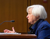Janet L. Yellen, Chair, Board of Governors of the Federal Reserve System testifies before the United States Congress Joint Economic Committee on &quot;The Economic Outlook&quot; in Washington, DC on Thursday, November 17, 2016.  In her prepared remarks Yellen stated &quot;With regard to the outlook, I expect economic growth to continue at a moderate pace sufficient to generate some further strengthening in labor market conditions and a return of inflation to the Committee&rsquo;s 2 percent objective over the next couple of years.&quot;<br /> Credit: Ron Sachs / CNP /MediaPunch