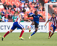 San Francisco, California - Sunday, July 27, 2014: Atletico Madrid and San Jose Earthquakes during a Copa Euroamericana match at Candlestick Park.