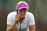 CHON BURI, THAILAND - FEBRUARY 17:  Suzann Pettersen of Norway lines up a putt on the 17th green during day two of the LPGA Thailand at Siam Country Club on February 17, 2012 in Chon Buri, Thailand.  Photo by Victor Fraile / The Power of Sport Images