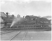 Fireman's-side view of D&amp;RGW #464 being turned in Durango.<br /> D&amp;RGW  Durango, CO