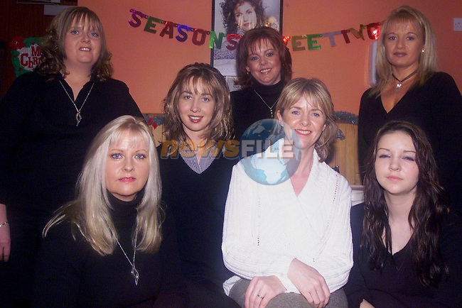 Gillian smyth. jennifer lennon. rachel murphy. betty mcdonnell .wenoy doyle .rachel mcdonnell .breda stanley. missing from pic mary kearney 6/11/04.Photo: Aaron Caffrey/Newsfile..This Picture has been sent to you by:..Newsfile Ltd..3 The View,.Millmount Abbey,.Drogheda,.CO. Meath..Ireland..Tel: +353419871240.Fax: +353419871260.GSM: +353862500958.email: pictures@newsfile.ie.www.newsfile.ie..This email has been sent by: aaroncaffrey@newsfile.ie