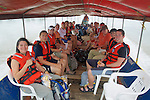 SBSJ Group Traveling By Boat To Tiputini