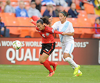 Washington D.C. - October 20, 2014:  Trinidad & Tobago defeated Guatemala 2-1 during a CONCACAF Women's  Championship game at RFK Stadium.
