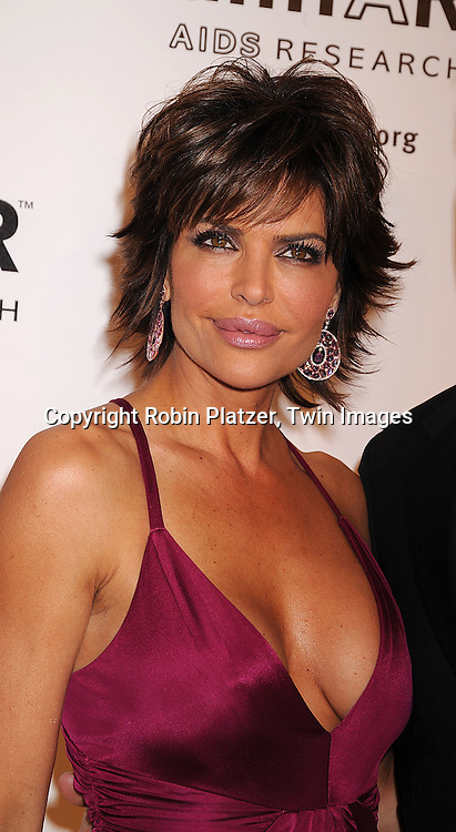 Lisa Rinna in Versace dress .posing for photographers at The amFAR New York Gala honoring Julian Schnabel, Carine Roitfeld and Bobby Shriver on January 31, 2008 at Cipriani 42nd Street. ..Robin Platzer, Twin Images..212-935-0770