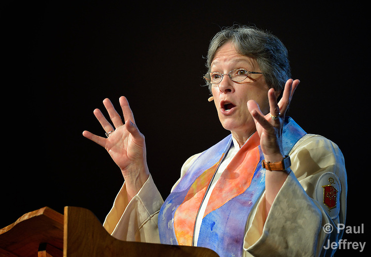 Bishop Deborah Lieder Kiesey preaches on May 3 at the 2012 United Methodist General Conference in Tampa, Florida.