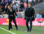 Tottenham's Mauricio Pochetttino looks on dejected during the FA Cup Semi Final match at Wembley Stadium, London. Picture date: April 22nd, 2017. Pic credit should read: David Klein/Sportimage