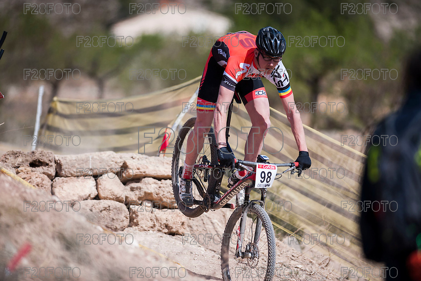 Chelva, SPAIN - MARCH 6: Vicente Javier Vera during Spanish Open BTT XCO on March 6, 2016 in Chelva, Spain