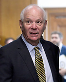 "United States Senator Ben Cardin (Democrat of Maryland) arrives for the start of the US Senate Committee on Finance ""Hearing to Consider the Graham-Cassidy-Heller-Johnson Proposal"" on the repeal and replace of the Affordable Care Act (ACA) also known as ""ObamaCare"" in Washington, DC on Monday, September 25, 2017.<br /> Credit: Ron Sachs / CNP"