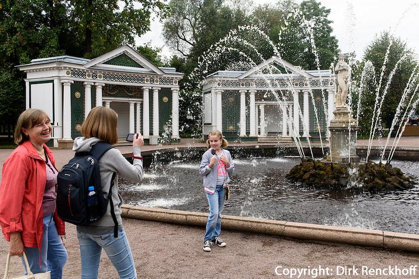 Eva-Brunnen im Park des Peterhof, St. Petersburg, Russland, UNESCO-Weltkulturerbe