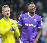 Bolton Wanderers' Sammy Ameobi plays with a smile <br /> <br /> Photographer Alex Dodd/CameraSport<br /> <br /> The EFL Sky Bet Championship - Brentford v Bolton Wanderers - Saturday 13th January 2018 - Griffin Park - Brentford<br /> <br /> World Copyright &copy; 2018 CameraSport. All rights reserved. 43 Linden Ave. Countesthorpe. Leicester. England. LE8 5PG - Tel: +44 (0) 116 277 4147 - admin@camerasport.com - www.camerasport.com