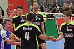 17.01.2018,  Lueneburg GER, VBL, SVG Lueneburg vs Bergische Volleys Solingen im Bild die Solinger Mannschaft jubelt/ Foto © nordphoto / Witke