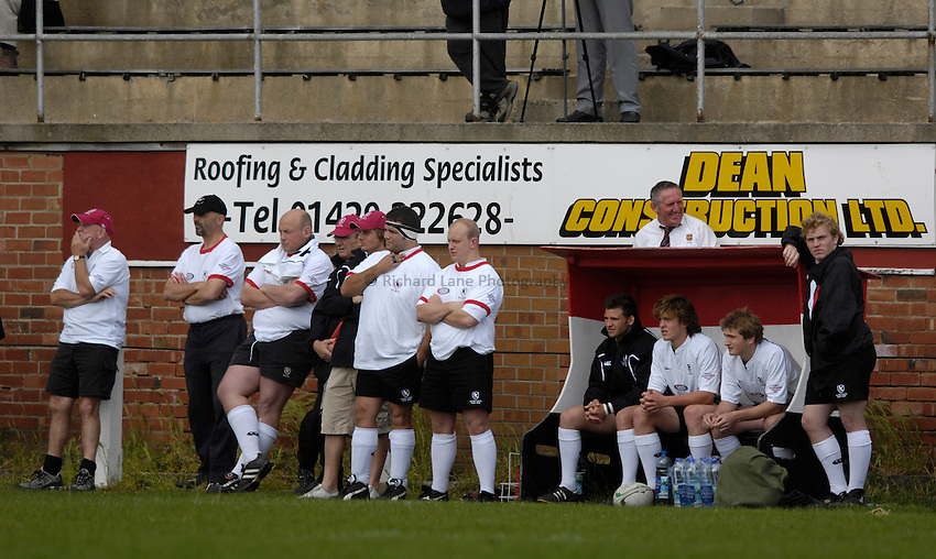 Photo: Jed Wee/Sportsbeat Images..Durham v Eastern Counties. County Championship Plate final. 26/05/2007...Eastern Counties' players and staff watch from the sideline.