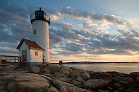 Lighthouse sunset at Annisquam, Cape Ann, MA