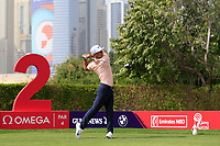 Thorbjorn Olesen (DEN) on the 2nd tee during Round 2 of the Omega Dubai Desert Classic, Emirates Golf Club, Dubai,  United Arab Emirates. 25/01/2019<br /> Picture: Golffile | Thos Caffrey<br /> <br /> <br /> All photo usage must carry mandatory copyright credit (© Golffile | Thos Caffrey)