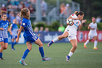 Boston, MA - Friday August 04, 2017: Julie King and Lo'eau Labonta during a regular season National Women's Soccer League (NWSL) match between the Boston Breakers and FC Kansas City at Jordan Field.
