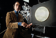 MIT, Boston, Massachusetts – Circa 1979. Photograph of Carl Sagan was taken at a press conference of the Voyager Golden Records, which were included aboard both Voyager spacecrafts. Carl Sagan (November 9, 1934 – December 20, 1996) was an American scientist, astronomer and science fiction writer.