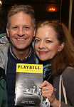 Martin Moran and Isabel Keating attend Broadway's 'Boys in the Band' hosted Midnight Performance of 'Three Tall Women' to Honor Director Joe Mantello at the Golden Theatre on May 17, 2018 in New York City.